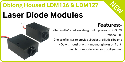 NEW – Oblong Laser Diode Module for Alignment Applications