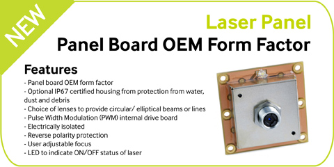 NEW – Laser Panel from Global Laser Ltd
